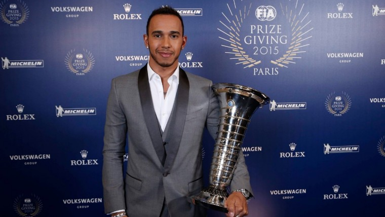 Lewis Hamilton, after dominating the 2015 Formula One season - Formula One vs. IndyCar Racing