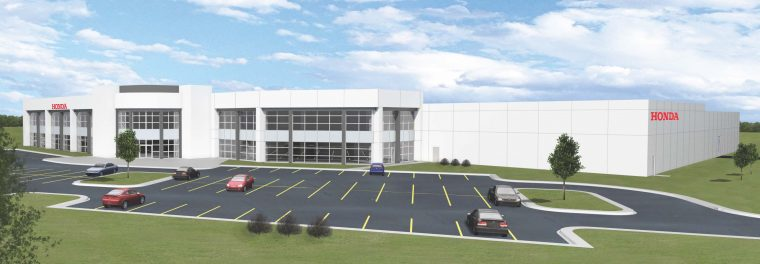 Artist rendering of the new expansion at Honda Aero Inc., in Burlington, NC