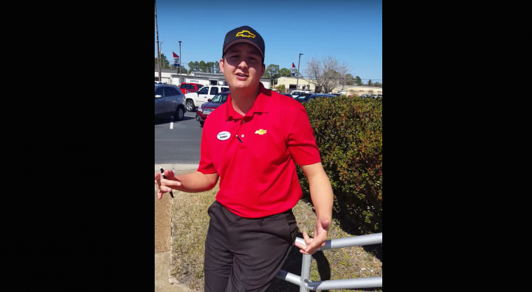 Bobby Walkup of Preston Hood Chevrolet's Trump Train video