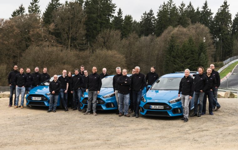 Ford Performance team with Focus RS