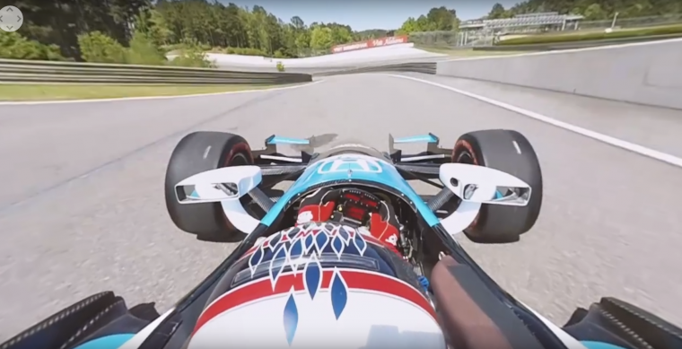 """Still from Honda's """"Fastest Seat in Sports"""" 360-degree video for Indy 500"""