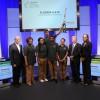 Representatives from Honda congratulate the winning team from Florida A&M University