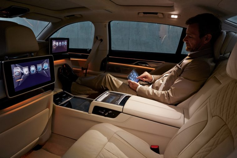 Interior of the BMW 7 Series