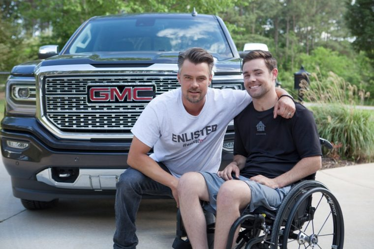 GMC has announced it will be partnering will Hollywood actor Josh Duhamel in order to help inspire Americans to help build smart homes for injured service men and women