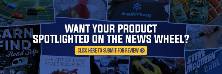 The News Wheel product review submission banner
