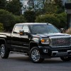 The 2016 GMC Sierra 2500HD Denali offers the signature exterior styling that the Denali sub-brand is known for, while also adding an enhanced navigation system, among other features