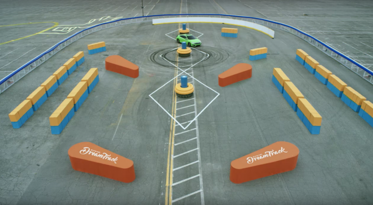 A 2016 Honda Civic coupe takes on the pinball portion of the #CivicDreamTrack