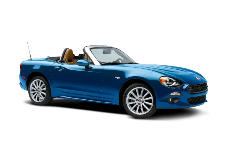 The 2017 Fiat 124 Spider carries a starting MSRP of $24,995, which makes it the most affordable turbocharged convertible in the US