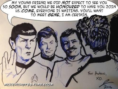 Anton Yelchin Tribute Cartoon