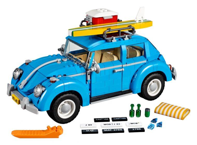 Blue VW Beetle Lego car set 10252 accessories