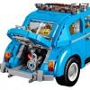 Blue VW Beetle Lego car set 10252 engine trunk