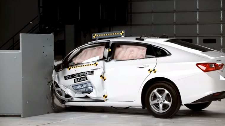 The IIHS recently gave Top Safety Pick+ honors to the 2016 Chevy Malibu