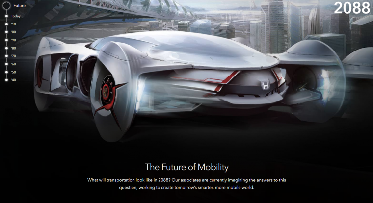 Futuristic Honda vehicle featured on new Honda About website