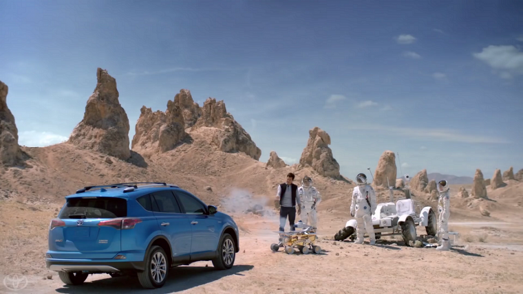 James Marsden in Toyota Mars Ad