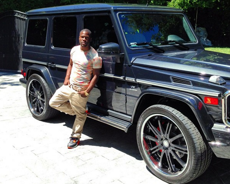 Comedian Kevin Hart has shared many pictures of his expensive cars via Instagram