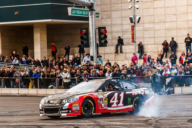 Kurt Busch won Monday's race at Pocono, which was rained out the day before
