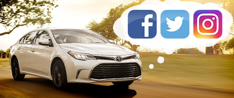 A Toyota thinking about Facebook, Twitter, and Instagram