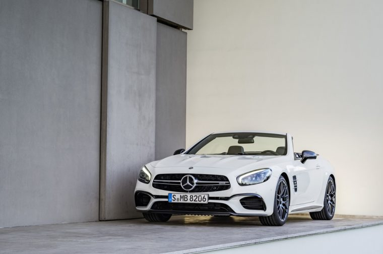 The 2017 Mercedes-Benz SL convertible carries a starting MSRP of $87,050 and is available with V6, V8, and V12 engines