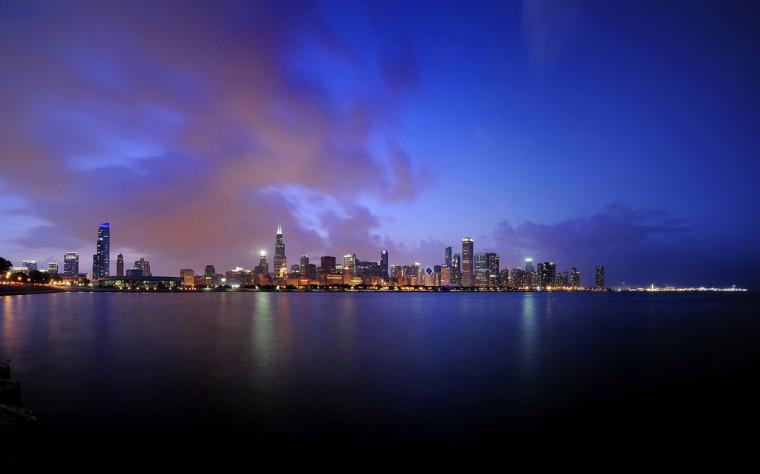 chicago illinois cityscape