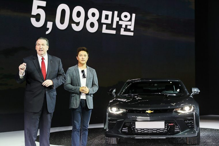 2016 Chevrolet Camaro SS debuts at Busan International Auto Show
