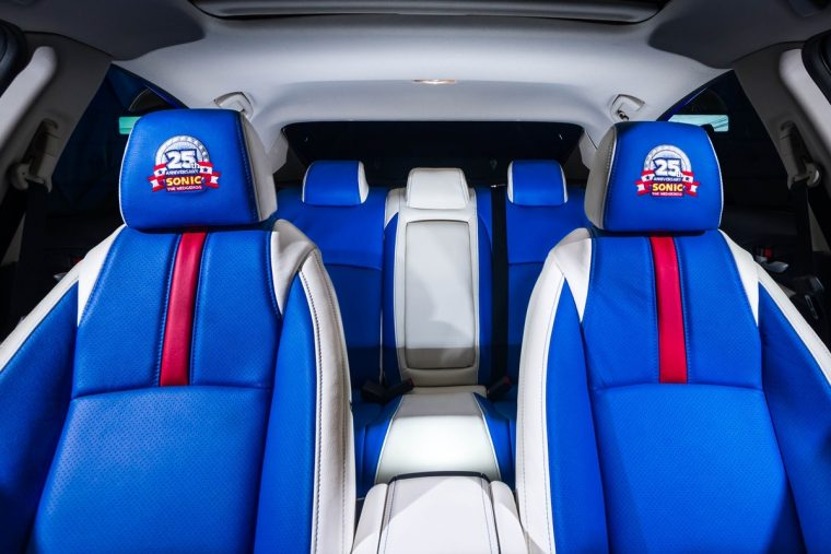 2016 Honda Sonic Civic interior celebrates 25th anniversary of Sonic the Hedgehog video game