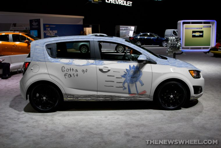 """The 2017 Chevy Sanic, a parody of Sonic the Hedgehog memes such as """"Gotta Go Fast"""""""