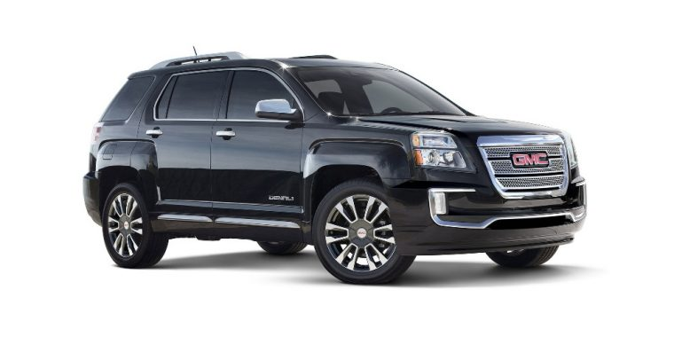 The 2017 GMC Terrain is a compact crossover vehicle that carries a starting MSRP of $23,975