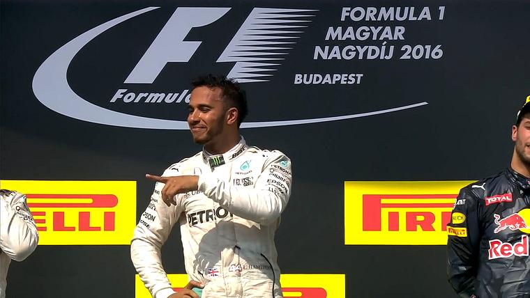 2016 Hungarian Grand Prix - Hamilton Podium