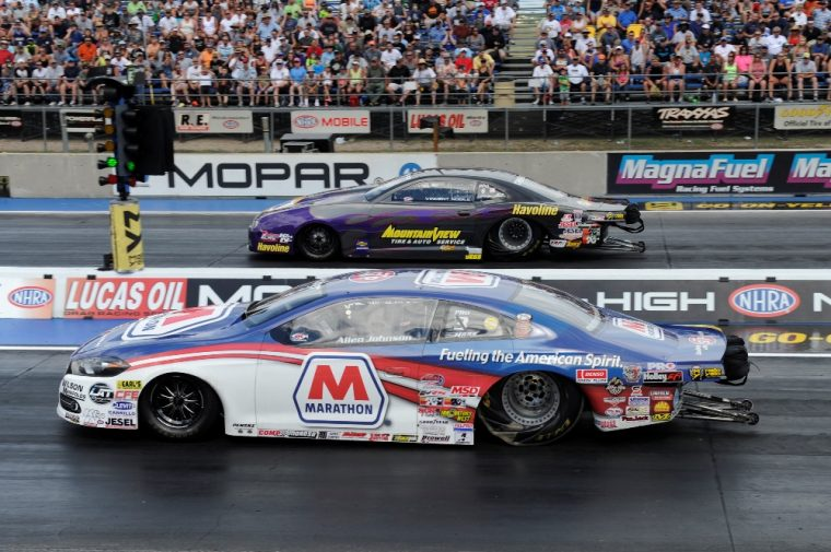 Allen Johnson recently won the Pro Stock event at Bandimere Speedway