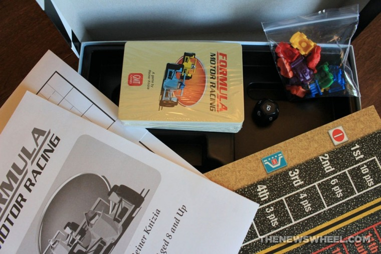 Formla Motor Racing Card Game Review GMT Games pieces components