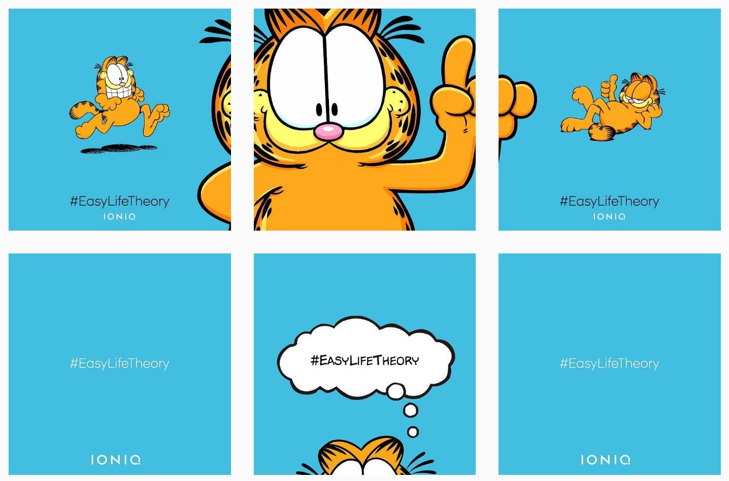 Garfield The Cat Ears In Korean Ads For Hyundai Ioniq News Wheel