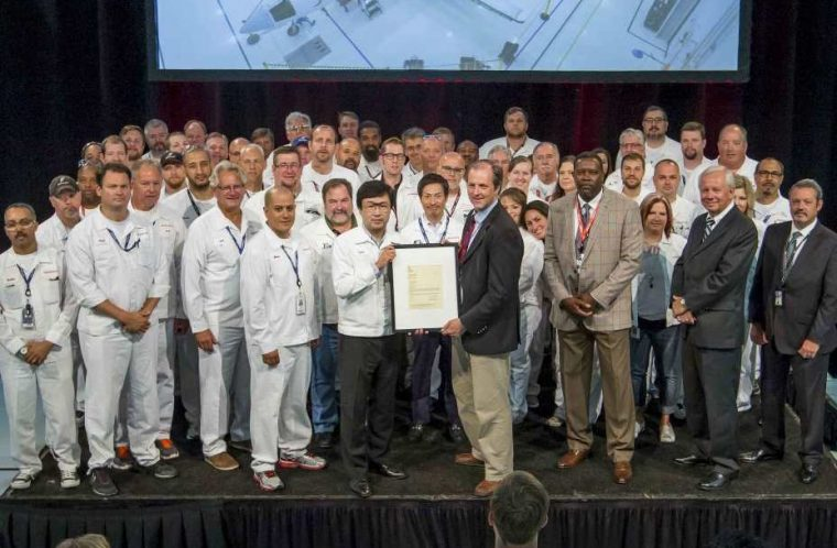 Group Photo. Honda Aircraft Company received its Production Certificate from the United States Federal Aviation Administration on July 8.