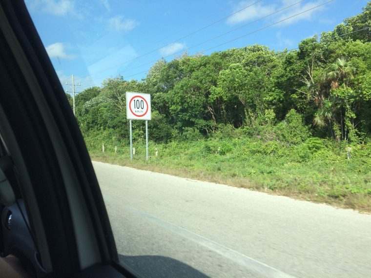 Mexico speed limit sign