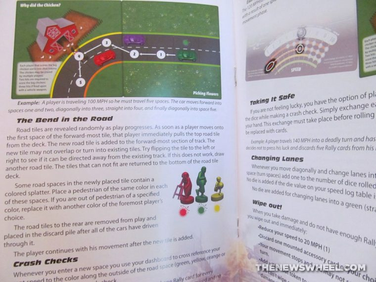 Road Kill Rally Z-Man Games Racing Board Game Review directions