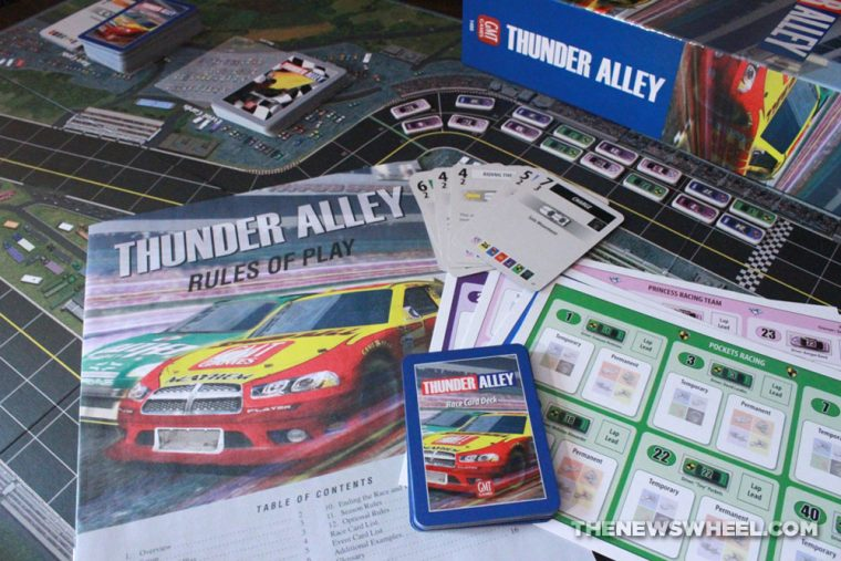 Thunder Alley stock car racing board game review GMT