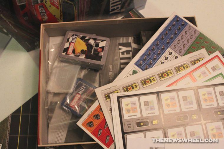 Thunder Alley stock car racing board game review GMT unboxing contents