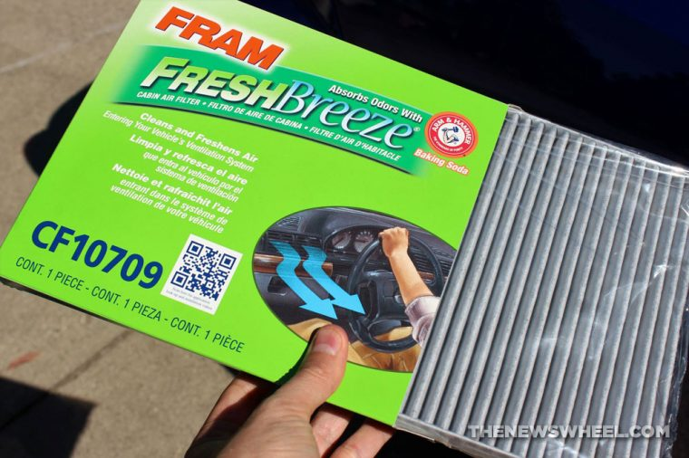 cabin air filter change steps climate control replace simple easy directions purchase new Fram