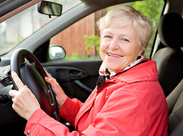 old lady granny driving car woman elderly driver