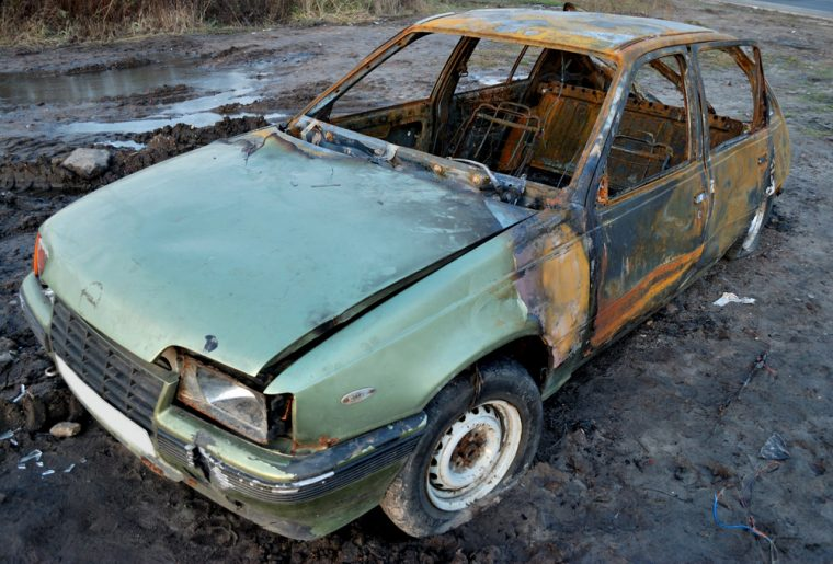 rusted car broken down rust damage