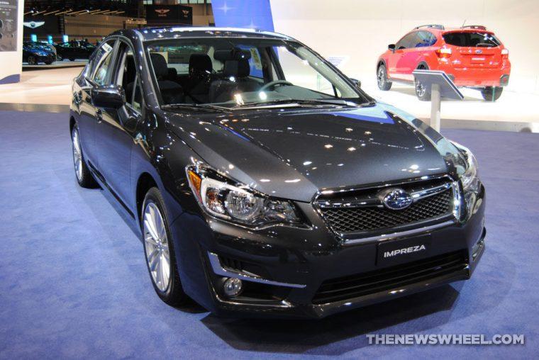 2016 Subaru Impreza sedan at Chicago Auto Show