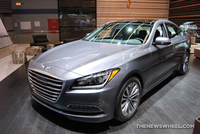 2017 Genesis G80 sedan at Chicago Auto Show