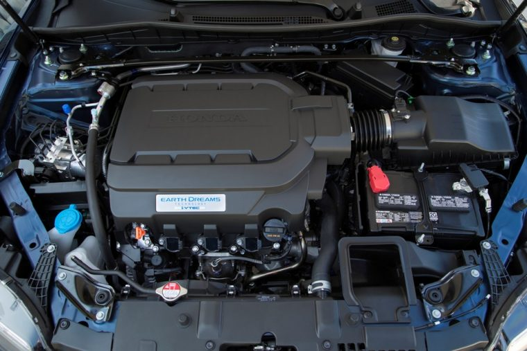 The 2017 Honda Accord Coupe offers the choice between a four-cylinder and V6 engine, as well as the option between a standard manual or available automatic transmission