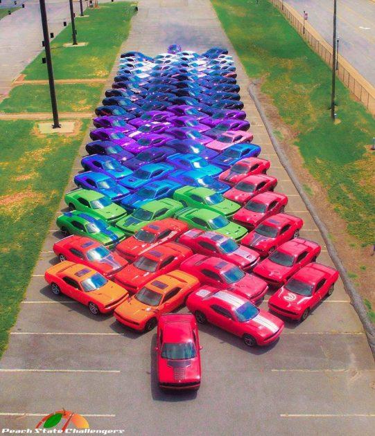 Dodge Challenger Full Rainbow