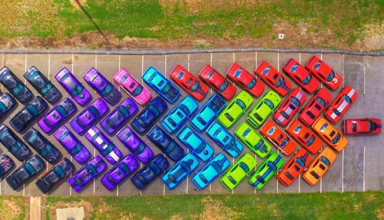 Dodge Challenger Rainbow