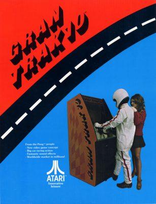 Fast Trak 10 racing video game original poster