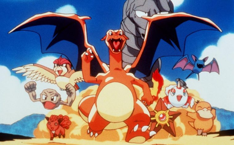 Group of animated pokemon from television series movies