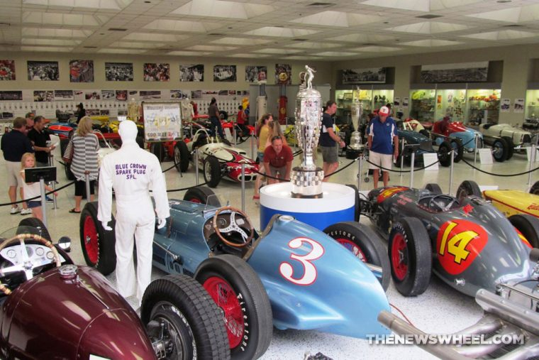 Indianapolis Motor Speedway Hall of Fame Museum exhibit cars