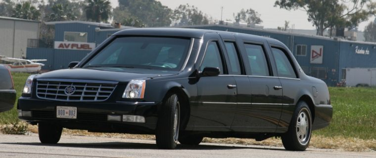 Spy photos show that Cadillac is developing a new presidential limo that looks similar to its Escalade SUV
