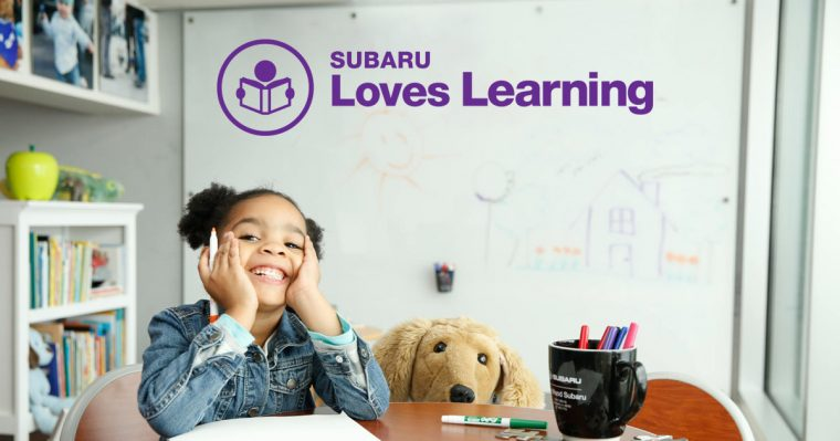 Subaru of America Learning charity drive for schools education