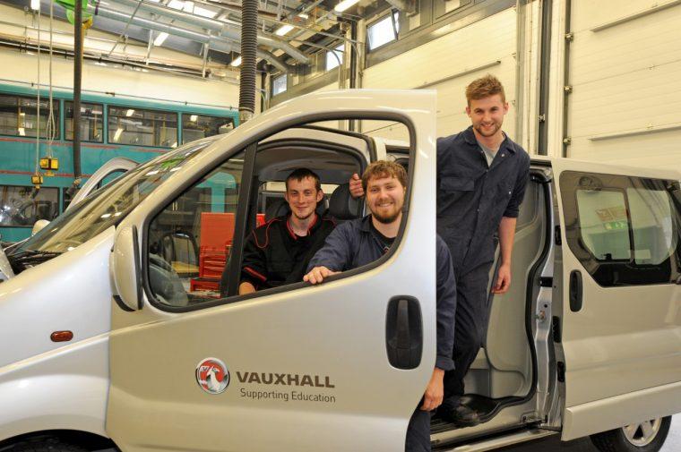 Vauxhall donates Vivaro van to City College, Coventry